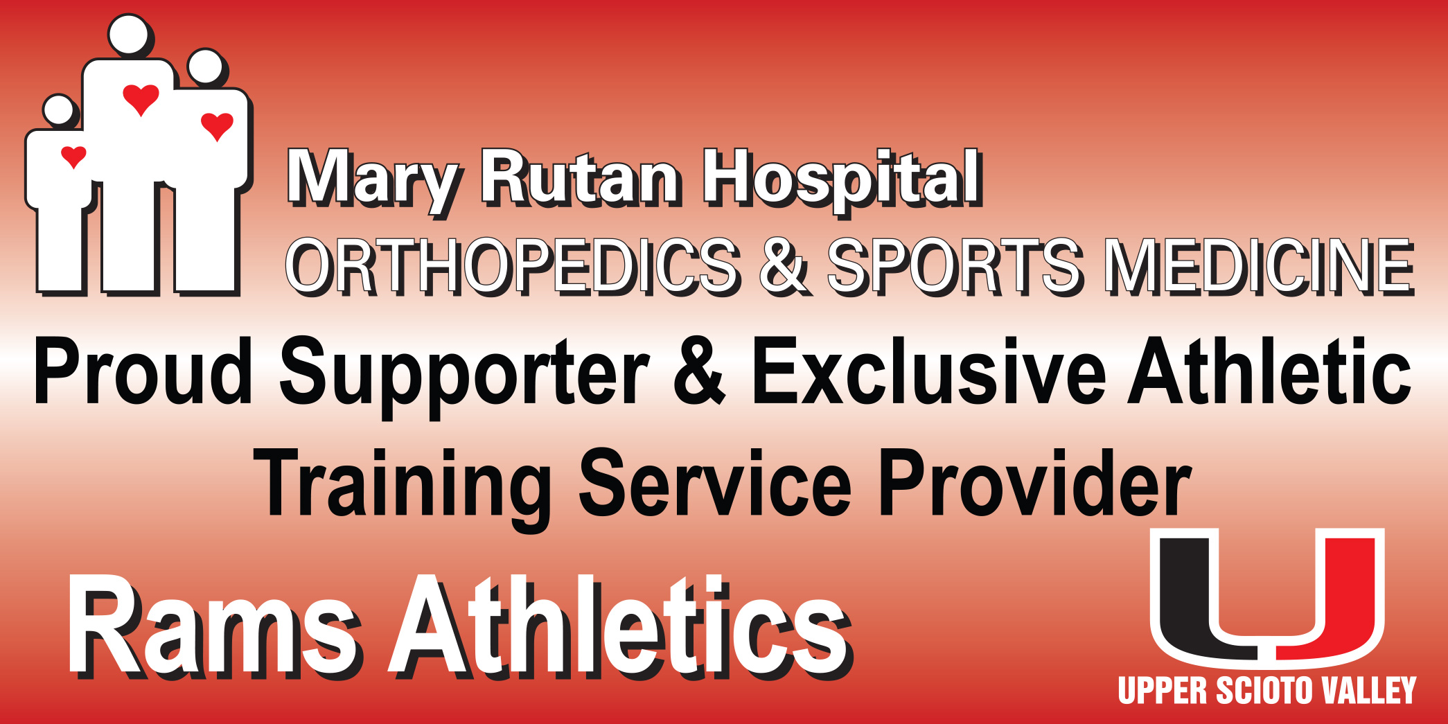 Mary Rutan Hospital Orthopedics & Sports Medicine Proud Supporter & Exclusive athletic training service provider Rams Athletics